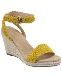 Catherine Malandrino Beesie Wedge Sandal - Yellow