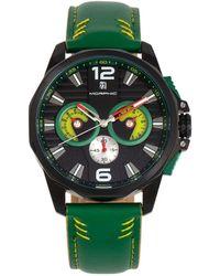 Morphic M82 Series Chronograph Quartz Black Dial Mens Watch - Green
