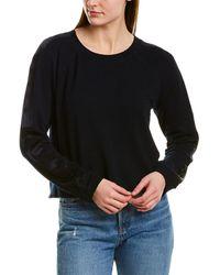 Monrow Raglan Sweater - Blue