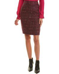 Karl Lagerfeld Tweed Pencil Skirt - Purple