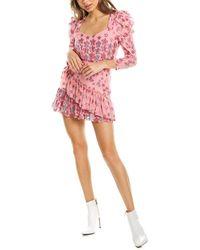 LoveShackFancy St. Barth Coastline Caden Silk-blend Dress - Pink