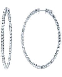 Diana M. Jewels . Fine Jewellery 18k 4.15 Ct. Tw. Diamond Hoops - Multicolour