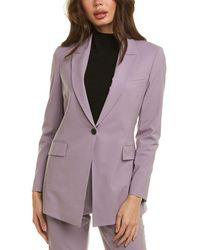 Theory Etiennette Wool-blend Blazer - Purple