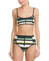 Proenza Schouler 2pc Sporty Bikini Set - Black
