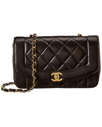 Chanel Black Quilted Lambskin Leather Classic Single Flap Bag