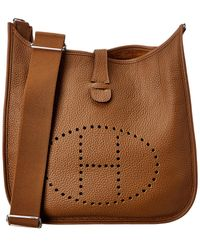 Hermès Brown Clemence Leather Evelyne Iii Pm