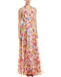 MILLY Silk Gown - Red