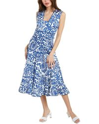 Alexis Mariana Midi Dress - Blue