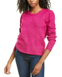 Cece By Cynthia Steffe Puff Sleeve Sweater - Pink
