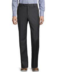 Saks Fifth Avenue Sharkskin Wool Dress Pants - Gray