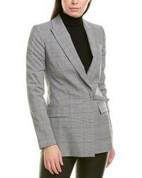 Karen Millen Wool-blend Jacket - Grey