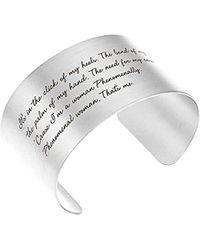 Dogeared Maya Angelou Collection Silver Bracelet - Metallic