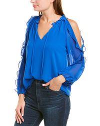 1.STATE Cold-shoulder Top - Blue