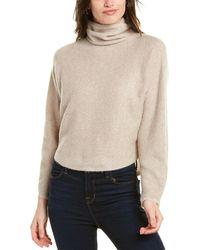 Vince Dolman Sleeve Wool & Cashmere-blend Top - Brown