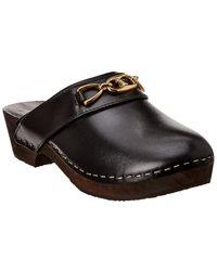 Celine Les Bois Leather Mule - Black