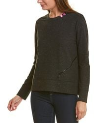 Lisa Todd Zippered Pocket Pullover - Black