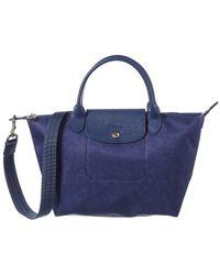 Longchamp Le Pliage Neo Small Canvas Short Handle Tote - Blue
