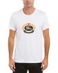 Burberry - Embroidered Archive Logo Cotton T-shirt - Lyst