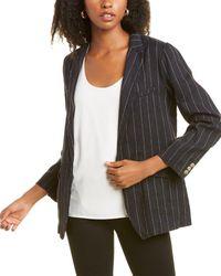 Forte Forte Pinstriped Linen-blend Jacket - Multicolour
