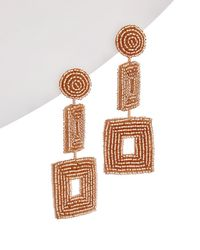 Kenneth Jay Lane - Plated Double Square Drop Earrings - Lyst