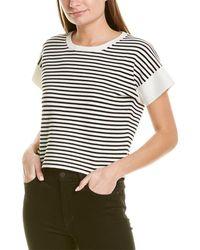 J.Crew Striped Boxy Crop Sweater - White