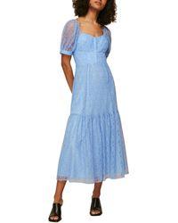 Whistles Lace Corset Dress - Blue