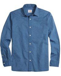 Brooks Brothers Chambray Sport Shirt - Blue