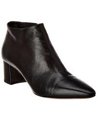 Theory Cidran Leather Bootie - Black
