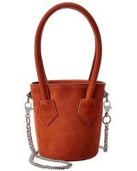 Salar Celia Suede Bucket Bag - Orange