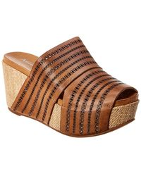 Antelope 751 Leather Wedge Sandal - Brown