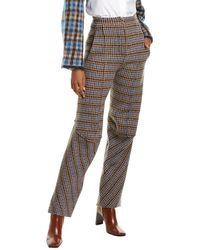 Stella McCartney Wool Trouser - Blue