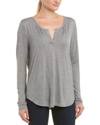 NYDJ Henley Top - Gray