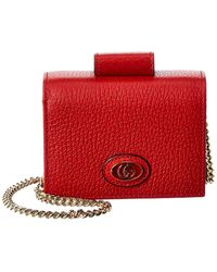 Gucci Leather Coin Purse - Red