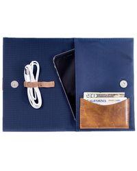 Bey-berk Ballistic Nylon Travel Charger Case & Accessories Pouch - Blue