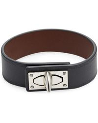 d68a5bb83a6a Givenchy - Shark Lock Leather Bracelet - Lyst