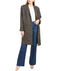 Brochu Walker Mondrian Wool-blend Coat - Brown