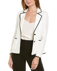 Marc Cain Knit Blazer Jacket - White
