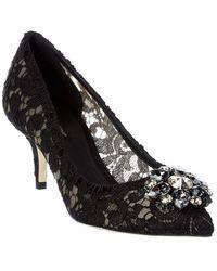 Dolce & Gabbana Bellucci 60 Embellished Taormina Lace Pump - Black