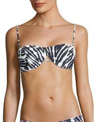 Mikoh Swimwear Paia Cut-out Detail Bandeau Bikini Top - Blue