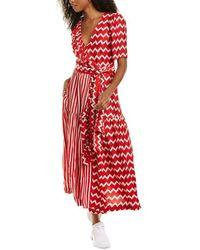 Stella McCartney Gabrielle Silk Maxi Dress - Red