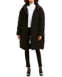 Moncler 1952 + Valextra Wool-blend Down Coat - Black