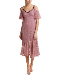 Nanette Lepore Midi Dress - Purple