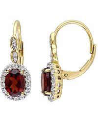 Rina Limor 14k 2.78 Ct. Tw. Diamond & Gemstone Earrings - Metallic