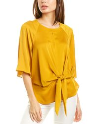 Vince Camuto Bell Sleeve Blouse - Yellow