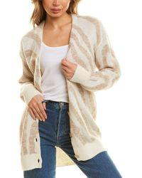 Chrldr Donna Zebra Alpaca & Wool-blend Cardigan - Natural