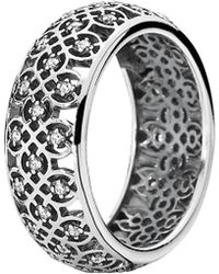 PANDORA Silver Cz Lattice Ring - Metallic