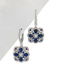 Diana M. Jewels - . Fine Jewelry 14k 2.36 Ct. Tw. Diamond & Blue Sapphire Drop Earrings - Lyst