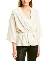IRO Crossover Gauze Linen & Silk-blend Top - Natural