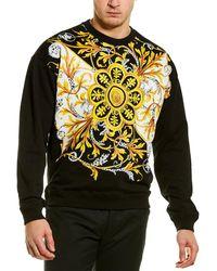 Versace Barocco Acanthus Print Sweatshirt - Black