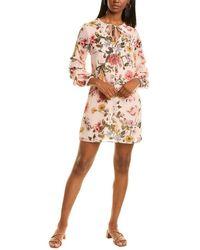 Vince Camuto Chiffon Float Midi Dress - Pink